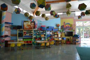 Salle motricité école maternelle
